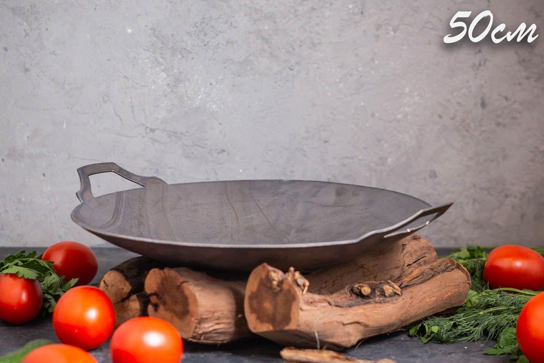Сковорода Садж стальная 50 см купить в интернет-магазине Shampurs.ru с бесплатной доставкой